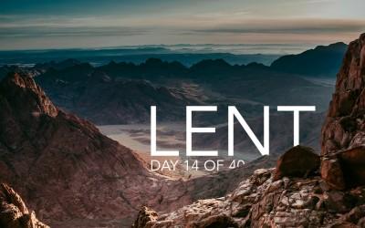 Mt. Sinai – Lent, Day 14 of 40